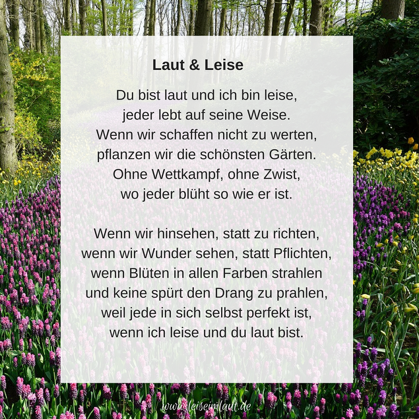 Gedicht zu Intros und Extros