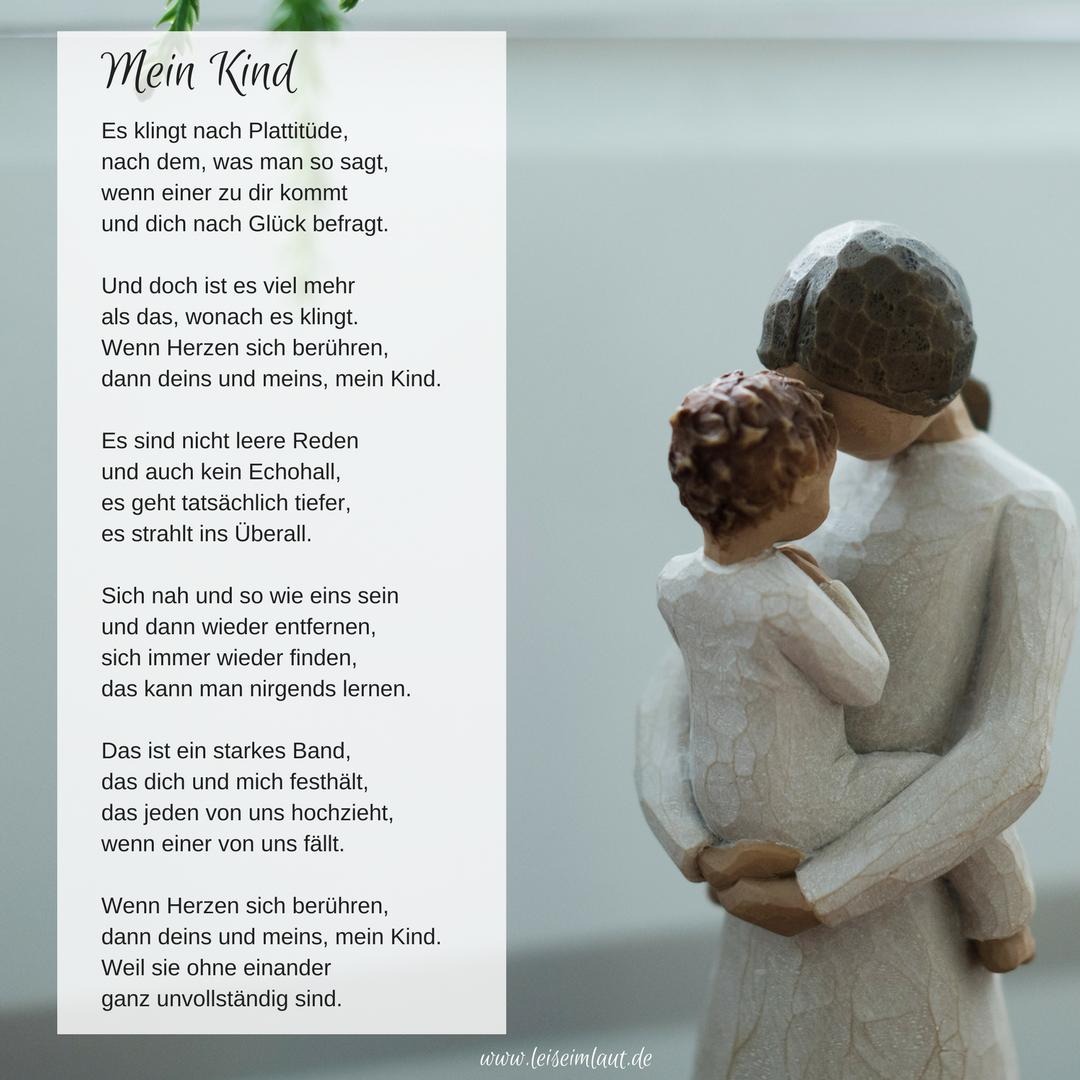 Mutter und selbstständig kind glück gedicht