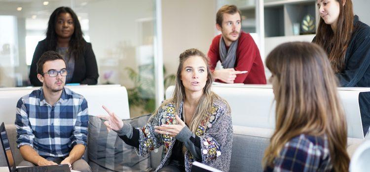 Arbeitsleben extrovertiert