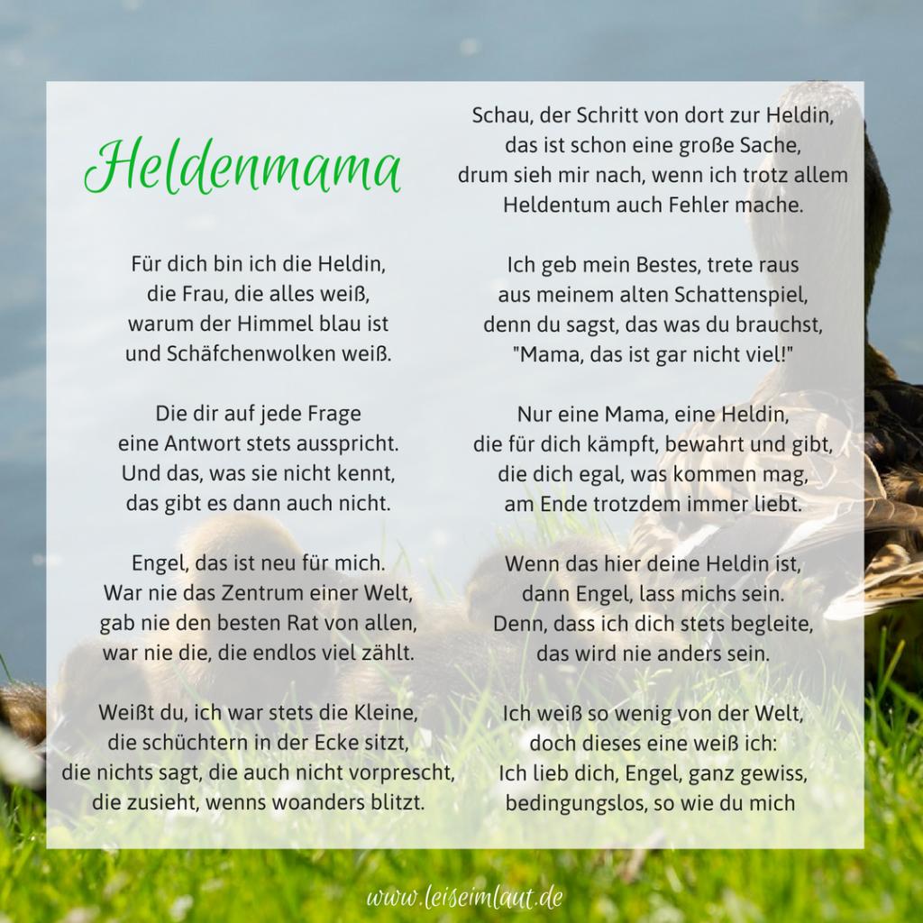 Gedicht Heldenmama Mutterliebe