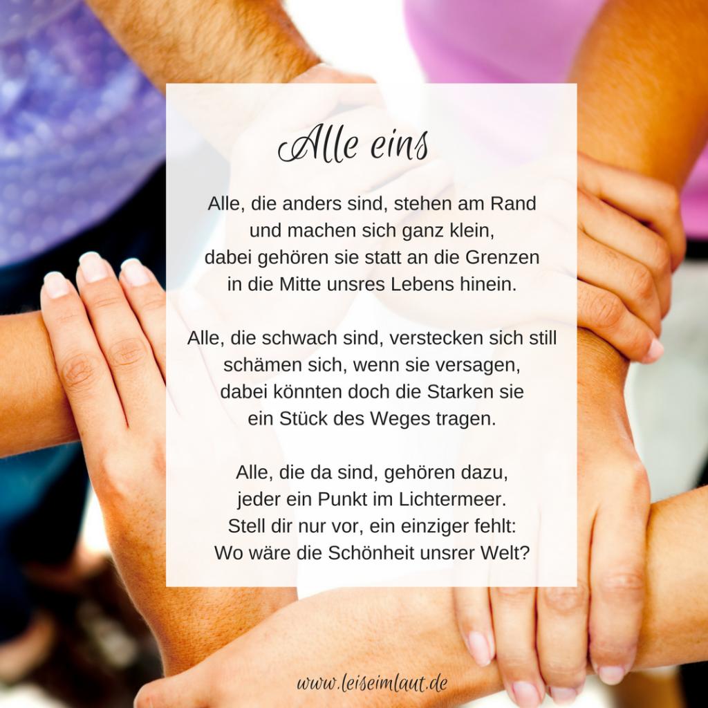 Gedicht Inklusion und Toleranz