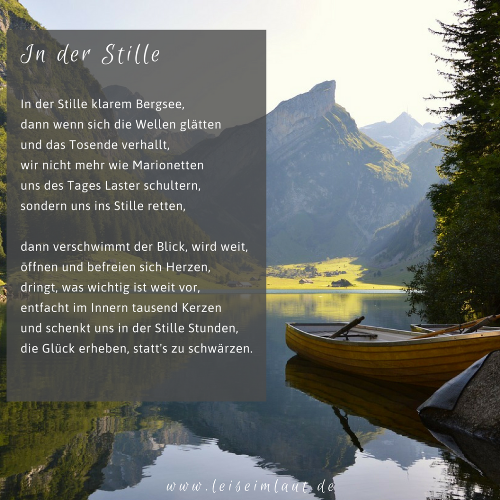 Gedicht in der Stille