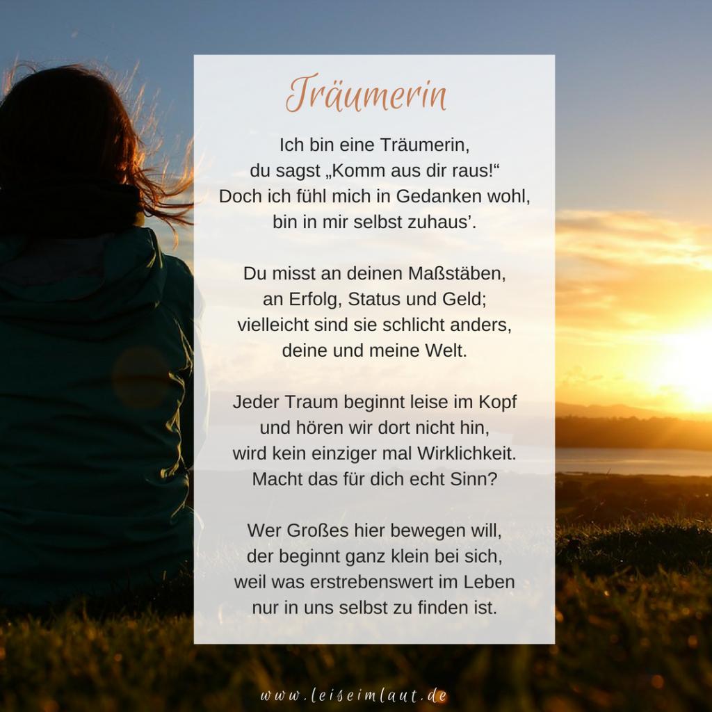 Gedicht Träumerin