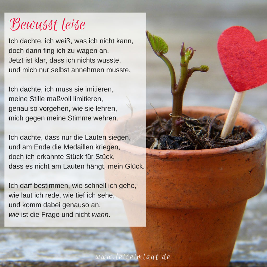 Gedicht Introvertierte leise
