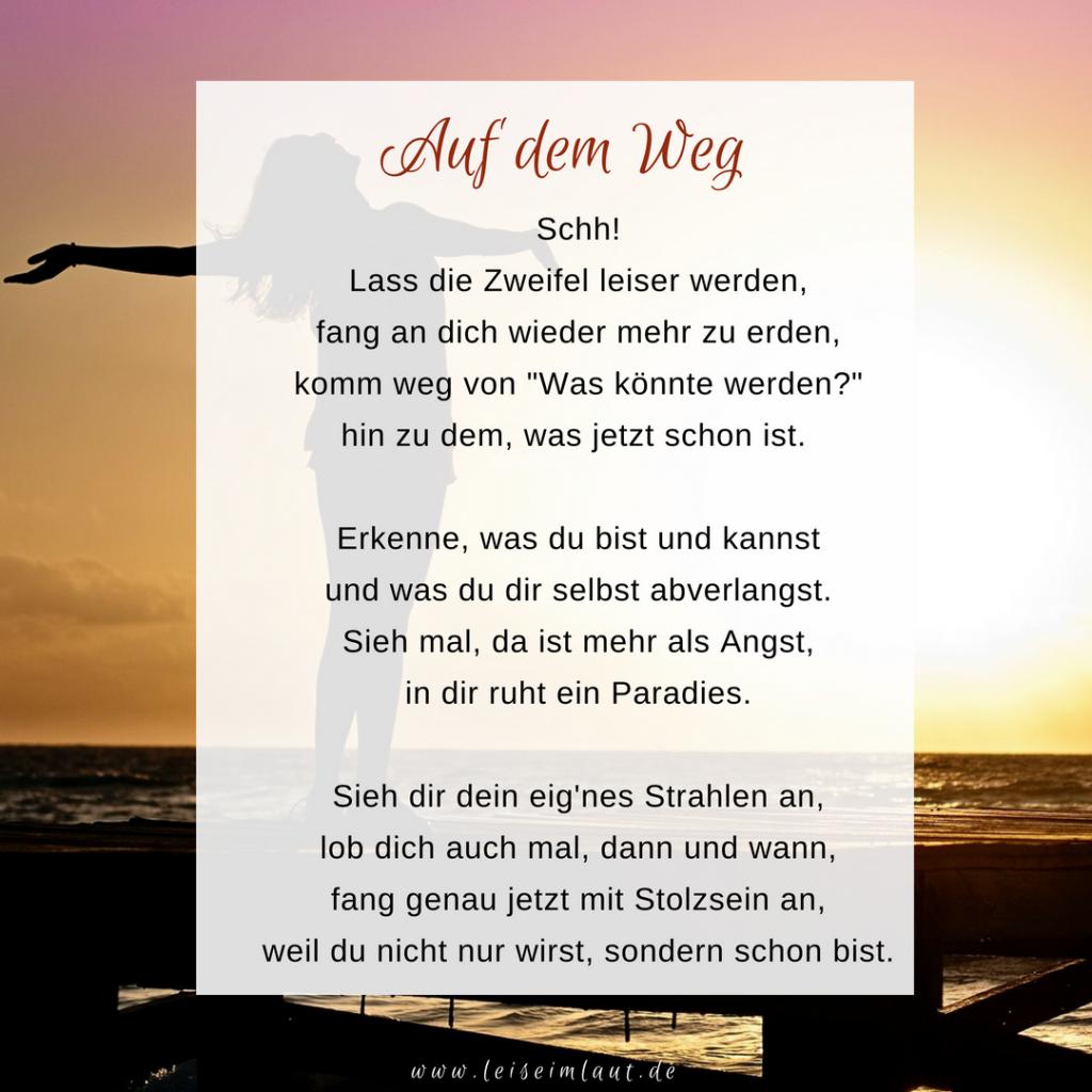 Gedicht Selbstwert