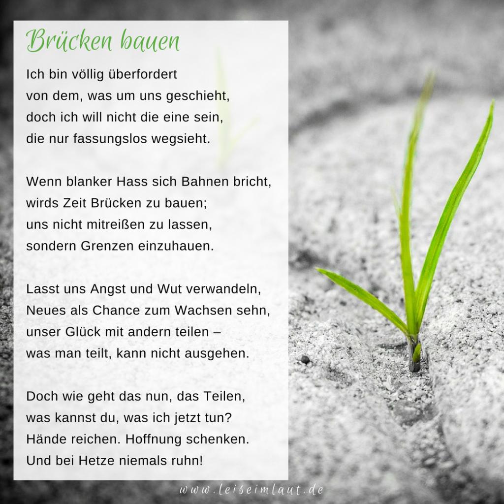 Gedicht gegen Rassismus und Hetze